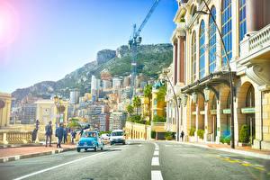 Фотографии Дороги Здания Монако Монте-Карло Улица Города
