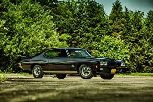 Обои Pontiac Черный Сбоку 1970 GTO Hardtop Coupe Автомобили фото
