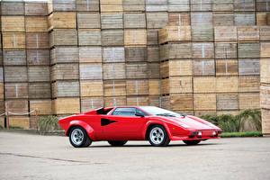 Фото Ламборгини Ретро Тюнинг Красный 1978-1979 Countach LP400 S   дизайн Bertone Машины