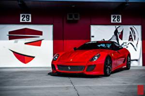 Фотографии Ferrari Красный 599 GTB Машины