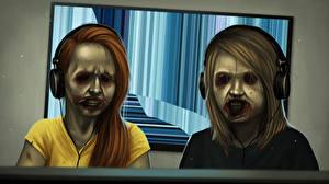 Фото Зомби Двое Наушники Penumbra Necrologue Игры