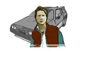 Фотографии Назад в будущее DeLorean Michael J. Fox (Marty McFly)