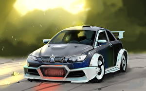 Фото Рисованные BMW M3 Автомобили