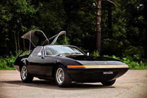 Фотографии Ferrari Винтаж Металлик Черный 1975 Ferrari 365 GTB 4 Panther Shooting Brake Автомобили