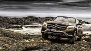 Фотография Mercedes-Benz Спереди 2015 GLC 350 4MATIC X205 Авто