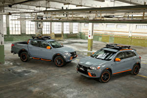 Фотография Mitsubishi Двое Серый Металлик машина