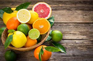 Обои Цитрусовые Апельсин Лимоны Мандарины Грейпфрут Лайм Листья