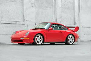 Обои Porsche Красный Сбоку 1995 911 Carrera 993 Автомобили фото