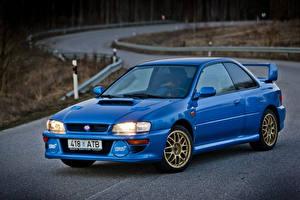 Обои Субару Металлик Синие 1998 Impreza 22B STi LHD (GC8E2SD) Автомобили