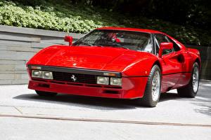Обои Ferrari Старинные Красный Металлик 1984-85 GTO Pininfarina Автомобили