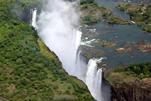 Фото Тропики Водопады Zimbabwe Victoria Falls
