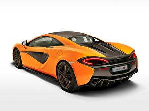 Фотографии McLaren Оранжевые Сзади 2015 570S Coupe Автомобили
