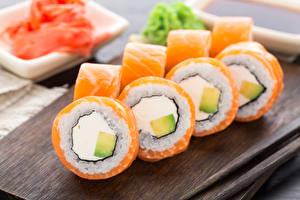 Обои Морепродукты Суси Пища