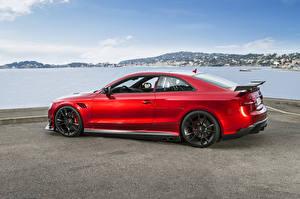 Фотографии Audi Красный Сбоку ABT RS 5 Coupe Автомобили
