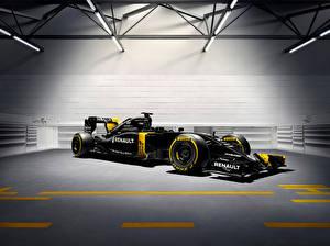 Картинка Renault Формула 1 Черная 2016 Renault R.S.16 авто