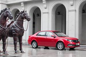 Фото Geely Красный Автомобиль 2015 GC7 Vision Автомобили