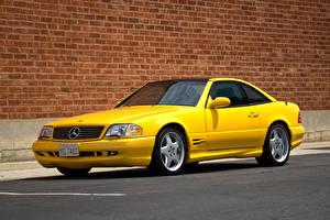 Обои Mercedes-Benz Желтые 1998-2001 SL 500 (R129) Автомобили