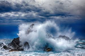 Фотография Море Брызги Природа