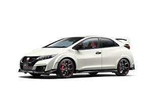 Обои Honda Белый Сбоку Civic Автомобили