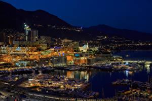 Фотографии Монако Дома Пирсы Монте-Карло Ночные