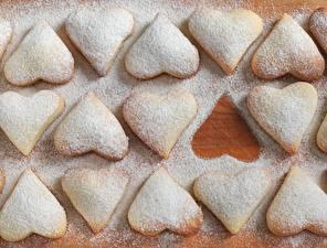 Картинки Печенье Сердечко Пища