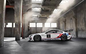 Обои БМВ Сбоку 2015 M6 GT3 F3 Автомобили