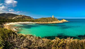 Обои Франция Пейзаж Побережье Море Zonza Corsica Природа фото
