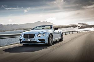 Фотографии Бентли Кабриолета Белый Скорость 2015 Continental GT V8 S Convertible машина