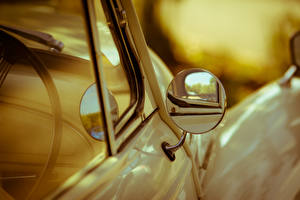 Обои Крупным планом Зеркало Отражение Автомобили фото