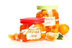 Обои Цитрусовые Апельсин Варенье Банка
