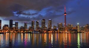 Обои Побережье Дома Канада Озеро Toronto Lake Ontario Города фото