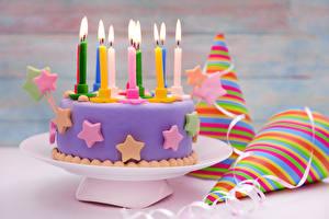 Обои Торты Свечи Праздники День рождения
