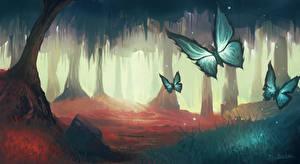 Картинки Бабочки Рисованные Животные