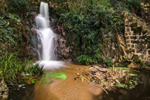 Фотография Франция Водопады Corsica Природа