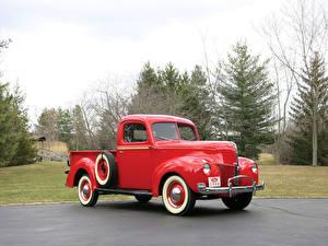 Обои Форд Ретро Красная Металлик Пикап кузов 1940 Ford V8 Pickup Truck машины
