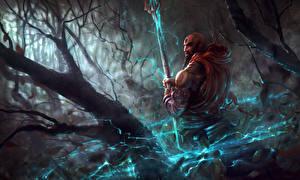 Фотографии Воители Diablo III С посохом Монах reaper of souls monk Игры Фэнтези