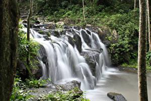 Обои Таиланд Парки Водопады Namtok Samlan National Park Saraburi Природа фото
