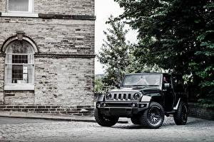 Фото Jeep Черные Project Kahn Wrangler Автомобили