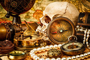 Картинка Часы Карманные часы Черепа География