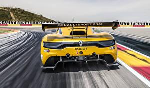 Фотография Renault Сзади Желтая 2014 Sport RS 01 автомобиль