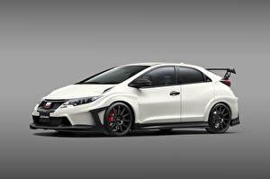 Картинки Honda Белый Сбоку Mugen Civic Type R Авто