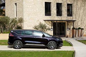 Фотографии Renault Фиолетовый Металлик Сбоку 2015 Espace Initiale Paris
