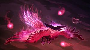 Обои DOTA 2 Волшебство Птицы Phoenix Феникс Игры