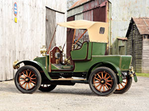 Фотография Рено Старинные Зеленый 1910 Renault Type AX 8 CV 2 places Автомобили