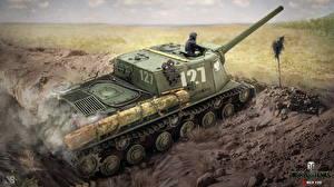 Фотография World of Tanks Самоходка Nikita Bolyakov ISU - 122 Игры