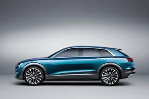 Фотографии Audi Сбоку 2015 e-tron quattro Автомобили