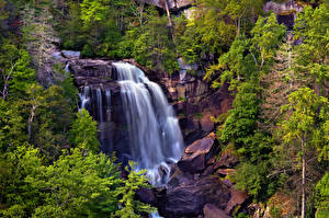 Обои Водопады США North Carolina Природа
