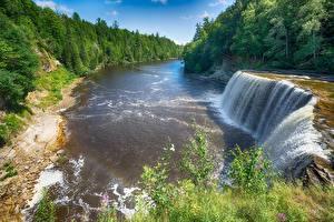 Обои Реки Водопады Леса Природа