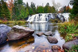 Фото Камни Водопады Реки Природа
