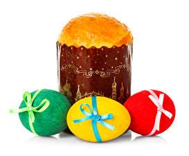 Обои Праздники Пасха Кулич Яйца Еда фото